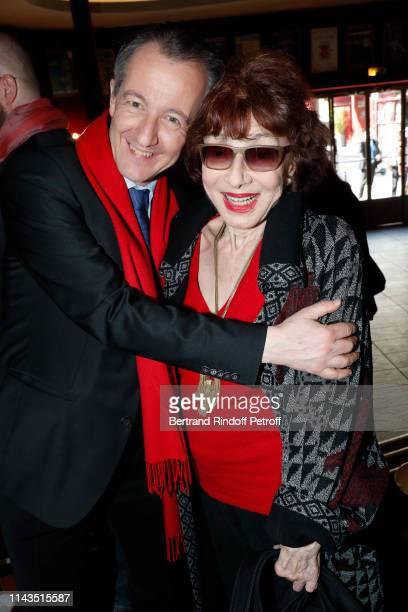 Journalist Christophe Barbier and actress Judith Magre attend Le Prix du Brigadier 2018 Award at Theatre Montparnasse on April 18 2019 in Paris France
