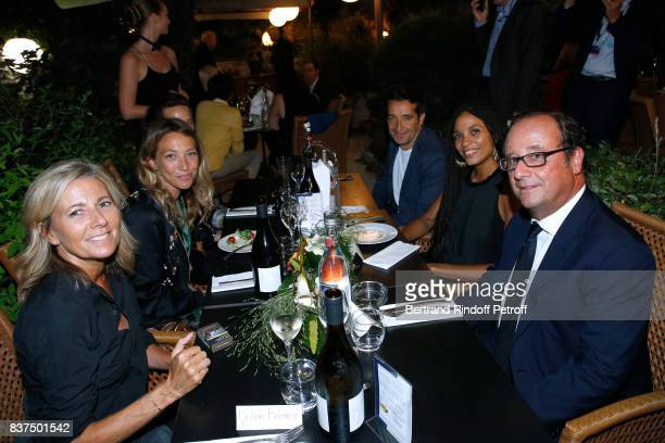 Journalist Claire Chazal actress Laura Smet editorial manager at 'Canal Plus Cinema' Ivan Guyot actress Stefi Celma and Former French President...