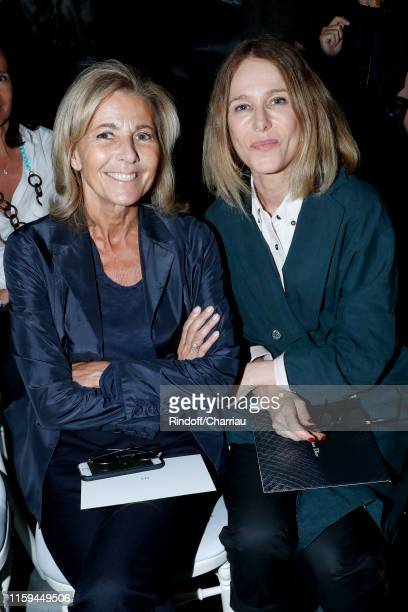 Journalist Claire Chazal and actress Pascale Arbillot attend the Christian Dior Haute Couture Fall/Winter 2019 2020 show as part of Paris Fashion...