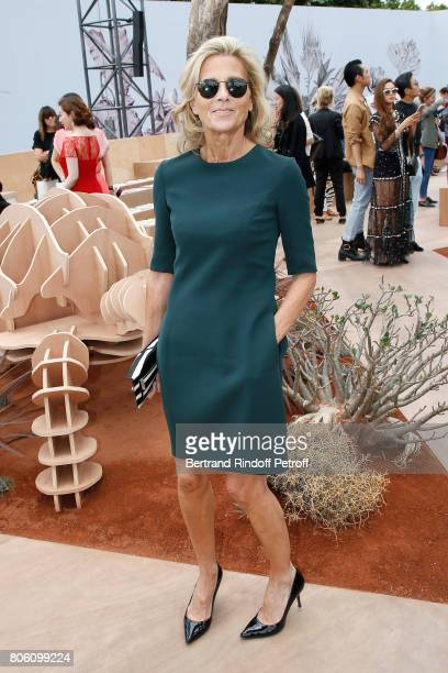 Journalist Claire Chazal attends the Christian Dior Haute Couture Fall/Winter 20172018 show as part of Haute Couture Paris Fashion Week on July 3...