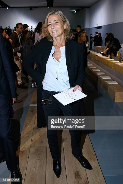 Journalist Claire Chazal attends the Christian Dior show as part of the Paris Fashion Week Womenswear Spring/Summer 2017 on September 30 2016 in...