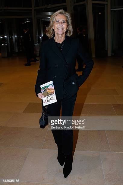 Journalist Claire Chazal attends the 'Icones de l'Art Moderne La Collection Chtchoukine' Cocktail at Fondation Louis Vuitton on October 20 2016 in...