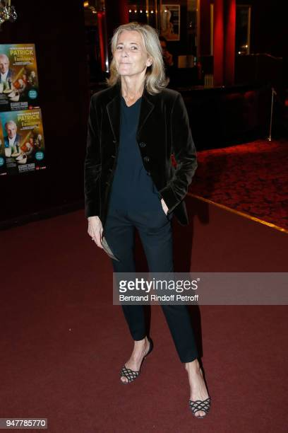 Journalist Claire Chazal attends the 'Patrick et ses Fantomes' Theater Play at Casino de Paris on April 17 2018 in Paris France