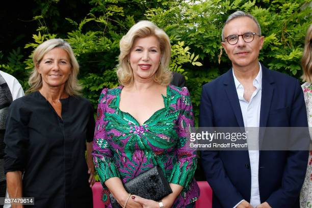 Journalist Claire Chazal First lady of Cote d'Ivoire Dominique Ouattara and writer Philippe Besson and attend the 10th Angouleme FrenchSpeaking Film...
