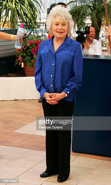 Journalist Claude Sarraute attends the photocall to promote the film 'Une Vieille Maitresse' at the Palais des Festivals during the 60th...