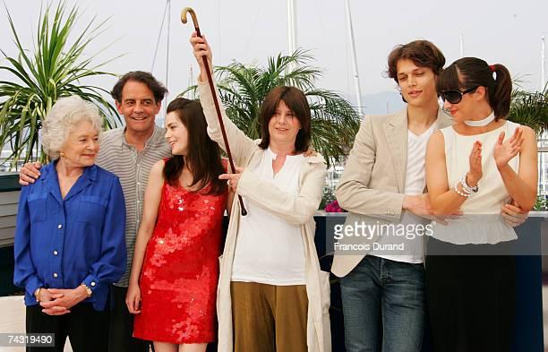Journalist Claude Sarraute producer JeanFrancois Lepetit actress Roxane Mesquida director Catherine Breillat actor Fu'ad Ait Aattou and actress Asia...