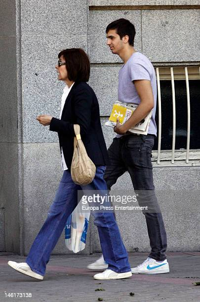 Journalist Concha Garcia Campoy and her son Lorenzo Diaz are seen on May 10, 2012 in Madrid, Spain. Concha Garcia Campoy is recovering from leukemia.