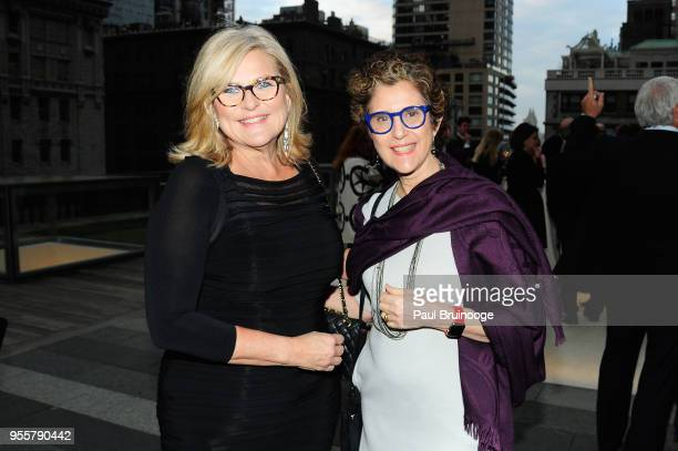Journalist Cynthia McFadden and Linda Koplewicz attend the 2018 Change Maker Awards at Carnegie Hall on May 7 2018 in New York City