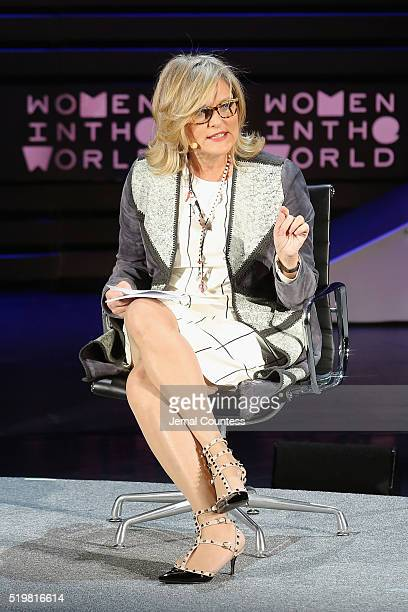 Journalist Cynthia McFadden speaks onstage at The Lasting Impact of Anita Hill during Tina Brown's 7th Annual Women in the World Summit at David H....
