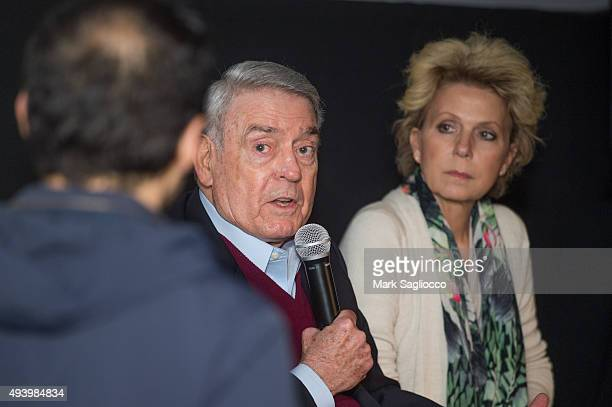 Journalist Dan Rather and Author Mary Mapes attend the Truth New York special screening at the Lincoln Plaza Cinema on October 23 2015 in New York...