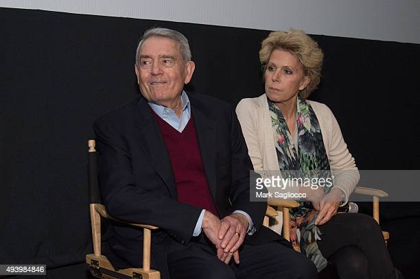 Journalist Dan Rather and Author Mary Mapes attends the Truth New York special screening at the Lincoln Plaza Cinema on October 23 2015 in New York...