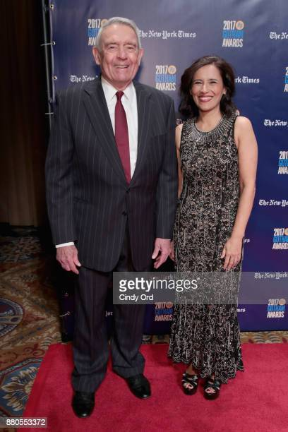 Journalist Dan Rather and Executive director of IFP Joana Vincente attends IFP's 27th Annual Gotham Independent Film Awards on November 27 2017 in...