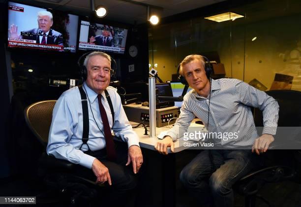 Journalist Dan Rather and host Dan Abrams pose for photo at SiriusXM's POTUS Politics at SiriusXM Studios on May 16 2019 in New York City