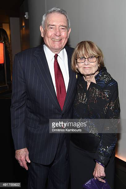 Journalist Dan Rather and Jean Goebel attend the Armani and Cinema Society Screening of Sony Pictures Classics' Truth after party at Armani...