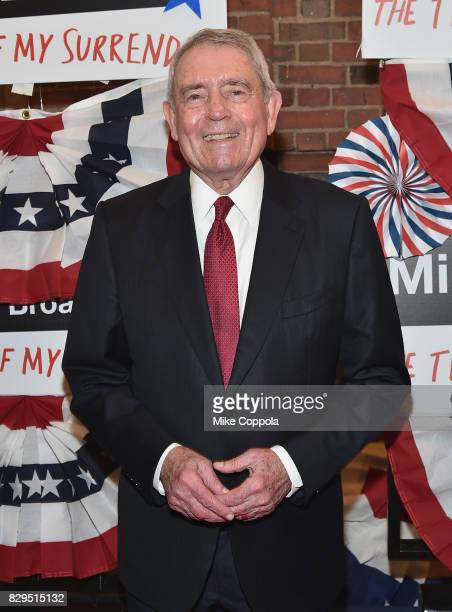 Journalist Dan Rather attends The Terms Of My Surrender Broadway Opening Night at Belasco Theatre on August 10 2017 in New York City