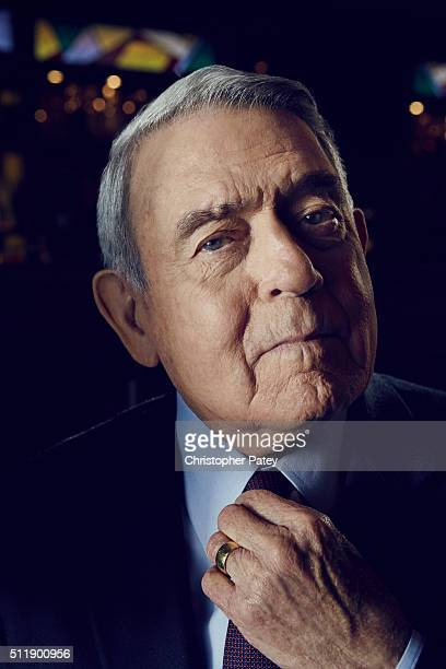 Journalist Dan Rather is photographed for The Hollywood Reporter on September 23 2015 in Los Angeles California