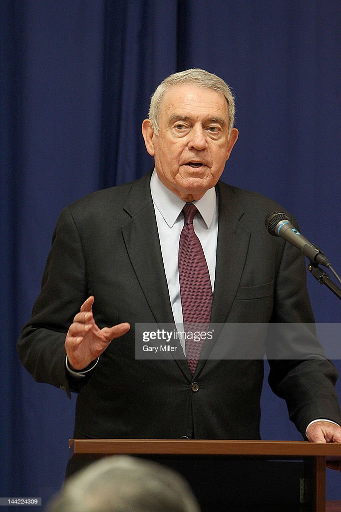 Journalist Dan Rather speaks before his book signing for 'Rather Outspoken' at Book People on May 11, 2012 in Austin, Texas.