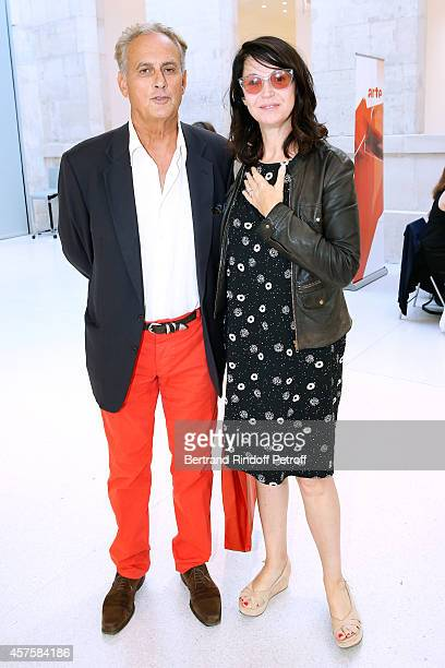 Journalist Daniel Leconte and Director Zabou Breitman attend the 'Picasso National Museum Paris' Reopening party on October 19 2014 in Paris France