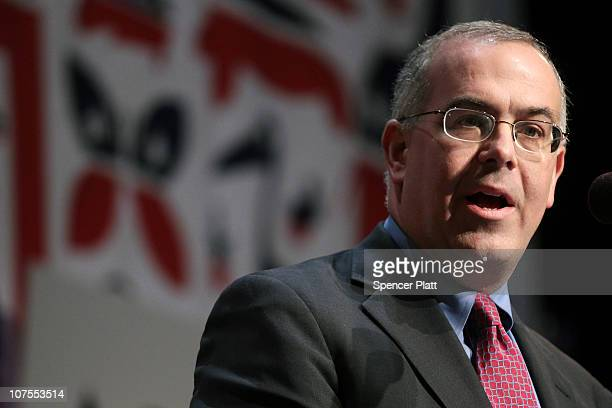 Journalist David Brooks speaks at the launch of the unaffiliated political organization known as No Labels December 13 2010 at Columbia University in...
