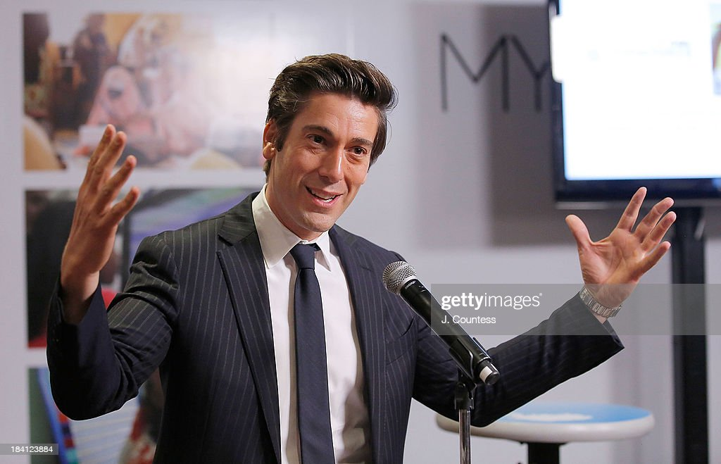 Journalist David Muir speaks during the 'Day Of The Girl' program and Fresco Unveiling With Freida Pinto at UNICEF House on October 11, 2013 in New York City.