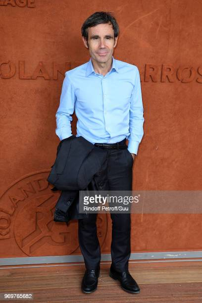 Journalist David Pujadas attends the 2018 French Open Day Thirteen at Roland Garros on June 8 2018 in Paris France