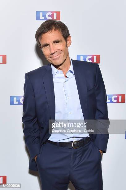 Journalist David Pujadas attends the LCI Press Conference to announce their TV Schedule for 2017/2018 on August 30 2017 in Paris France