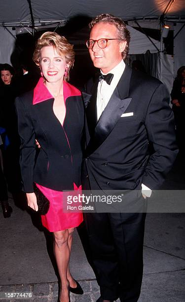 Journalist Deborah Norville and husband Karl Wellner attending 100th Anniversary Party for 'Vogue Magazine' on April 2 1992 at the New York Public...
