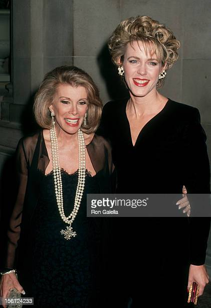 Journalist Deborah Norville and Joan Rivers attending 'Gala Evening Benefiting New Costume Institute' on December 7 1992 at the Metropolitan Museum...