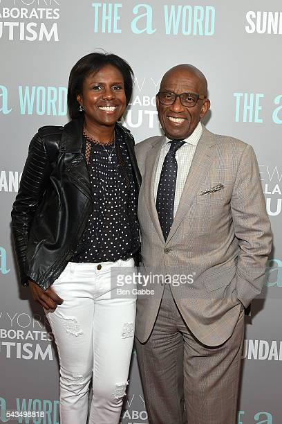 Journalist Deborah Roberts and TV personality Al Roker attend 'The A Word' New York Screening at Museum Of Arts And Design on June 28 2016 in New...