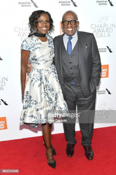 TV journalist Deborah Roberts and TV personality Al Roker attend the 45th Chaplin Award Gala at Alice Tully Hall Lincoln Center on April 30 2018 in...