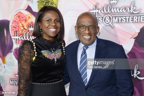 TV journalist Deborah Roberts and TV personality/actor Al Roker attend Hallmark Channel and Hallmark Movies and Mysteries Winter 2018 TCA Press Tour...
