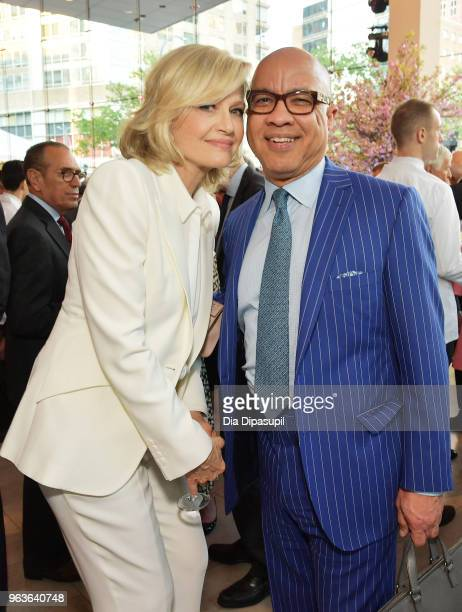 Journalist Diane Sawyer and president of Ford Foundation Darren Walker attend Lincoln Center's American Songbook Gala at Alice Tully Hall on May 29...