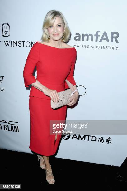 Journalist Diane Sawyer attends the amfAR Gala 2017 at Ron Burkle's Green Acres Estate on October 13 2017 in Beverly Hills California