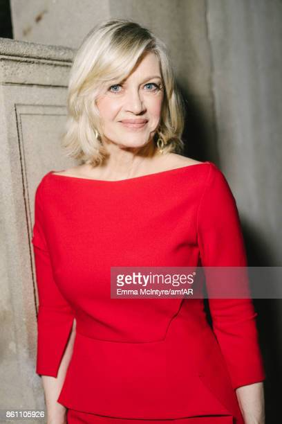 Journalist Diane Sawyer attends the amfAR Gala Los Angeles 2017 at Ron Burkle's Green Acres Estate on October 13 2017 in Beverly Hills California