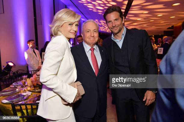 Journalist Diane Sawyer producer Lorne Michaels and actor Bradley Cooper attend Lincoln Center's American Songbook Gala at Alice Tully Hall on May 29...