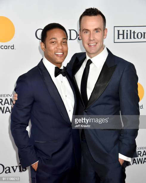 Journalist Don Lemon and Tim Malone attend the Clive Davis and Recording Academy PreGRAMMY Gala and GRAMMY Salute to Industry Icons Honoring JayZ on...