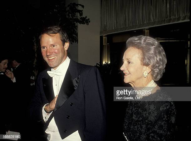Journalist Donald Graham and publisher Katharine Graham attend Grid Iron Club Dinner Dance on March 26 1988 in Washingotn DC