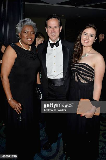 Journalist Donna Brazile Rick Santorum Sarah Santorum attend the Yahoo News/ABCNews PreWhite House Correspondents' dinner reception preparty at...