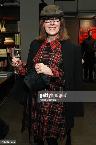 Journalist E Jean Carroll attends The ELLE Agenda In Conversation Panel And Cocktail Party hosted by Robbie Myers At NeueHouse on November 17 2015 in...