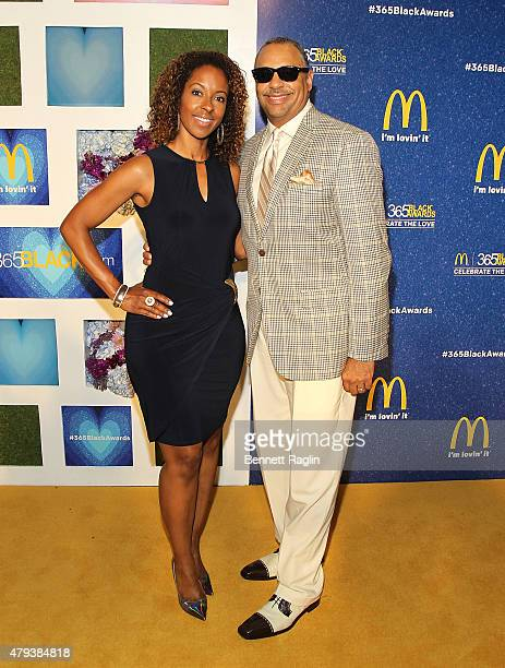 Journalist Ed Gordon and wife Leslie Gordon attends the 2015 365 Black Awards at Ernest N Morial Convention Center on July 3 2015 in New Orleans...