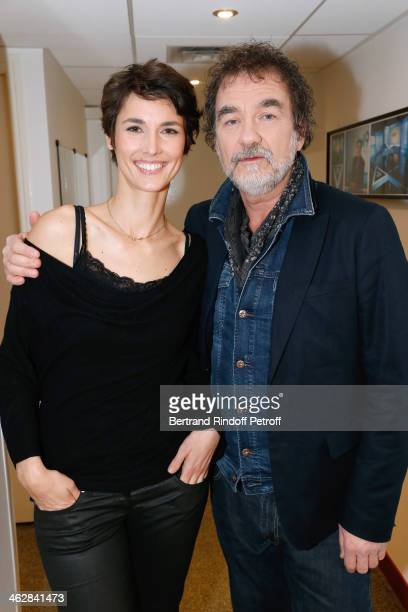 Journalist Eglantine Emeye here for her documentary 'Un pas vers la vie' and actor Olivier Marchal her for the movie 'Belle comme la femme d'une...
