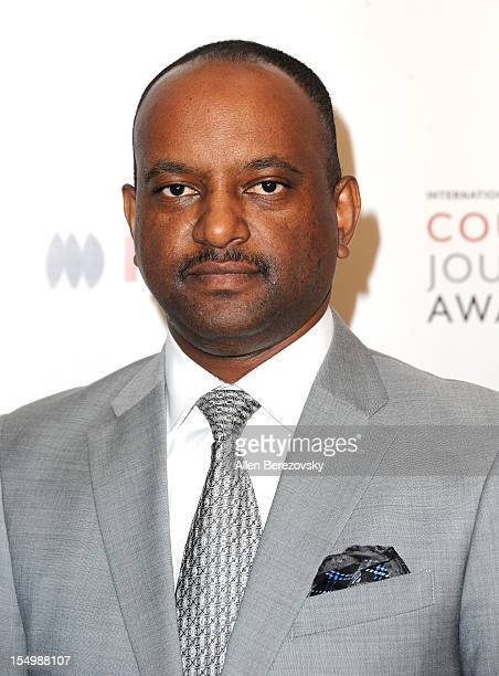 Journalist Elias Wondimu arrives at the 2012 Courage in Journalism Awards hosted by the International Women's Media Foundation held at the Beverly...