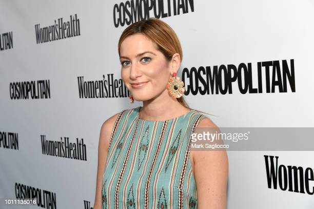 TV journalist Elizabeth Wagmeister attends the Women's Health Cosmo Party Under the Stars at Bridgehampton Tennis and Surf Club on August 4 2018 in...