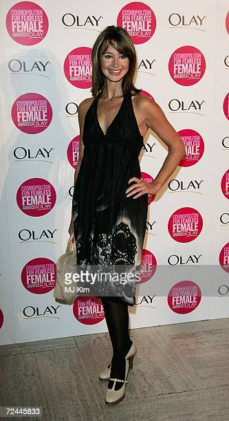 Journalist Ellie Crisell arrives at the Cosmopolitan Fun Fearless Female Awards with Olay held at the Bloomsbury Ballroom November 7 2006 in London...