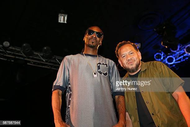 Journalist Elliott Wilson interviews Snoop Dogg at Highline Ballroom on August 8, 2016 in New York City.