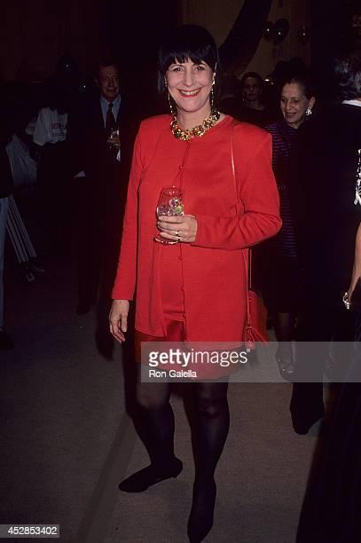 Journalist Elsa Klensch attends CFDA/Vogue Magazine's '7th on Sale' Fashion Extravaganza to Benefit the New York City AIDS Fund on November 29 1990...