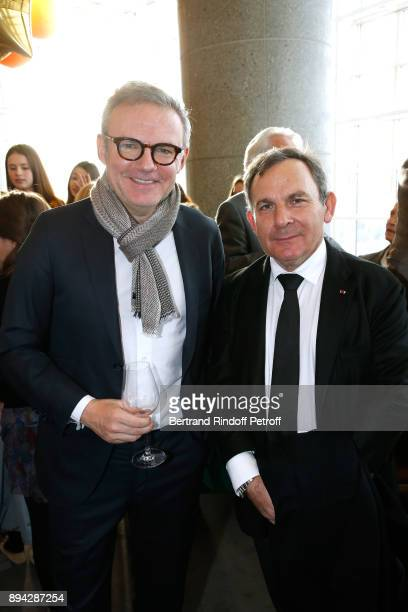 Journalist Eric Brunet and lawyer Francis Szpiner attend the 32th 'Reve d'Enfants' Charity Gala at Opera Bastille on December 17 2017 in Paris France