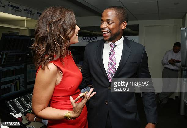 Journalist Erica Hill and actor Dule Hill attend the annual Charity Day hosted by Cantor Fitzgerald and BGC at Cantor Fitzgerald on September 11 2015...