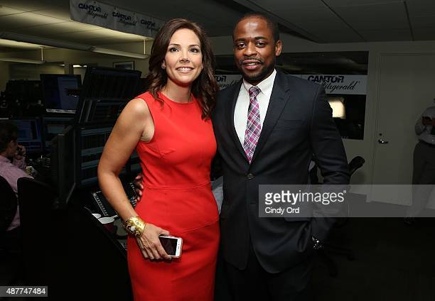 Journalist Erica Hill and Dule Hill participate in the annual Charity Day hosted by Cantor Fitzgerald and BGC at Cantor Fitzgerald on September 11...