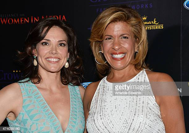 Journalist Erica Hill and television personality Hoda Kotb arrive at the 40th Anniversary Gracies Awards at The Beverly Hilton Hotel on May 19, 2015...
